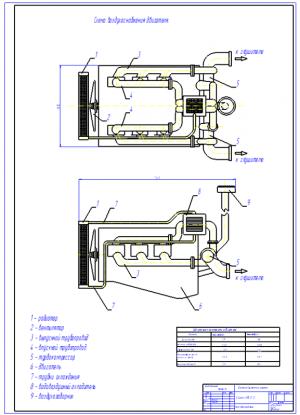 2.Схема воздухоснабжения двигателя А1