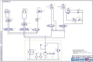 Чертеж схемы гидравлической принципиальной (формат А1)
