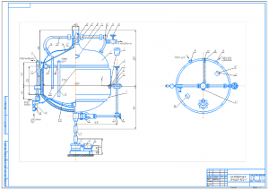 2.Сборочный чертеж сусловарочного котла ВСЦ-1 на формате А1