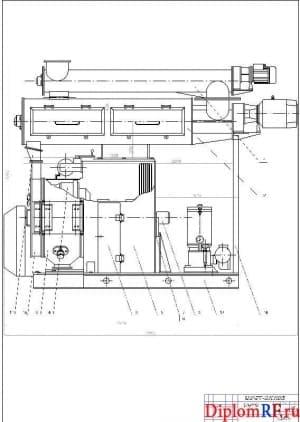 Чертёж сборочный гранулятора (формат А1 )