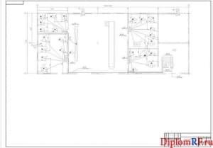 Схема расположения электрооборудования и прокладки электрических сетей (формат А1)