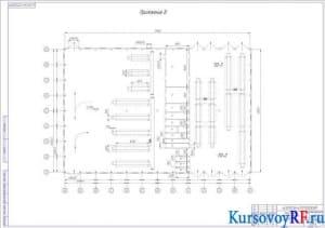 Чертеж плана-схемы производственного корпуса
