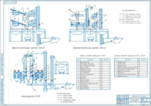2.Технология послеуборочной обработки зерна А1 с изображением зерноочистительного агрегата ЗАВ-20 и ЗАВ-40, а также зерносушилки М-819