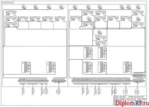 АДСК, монтажно-коммутационная схема (формат А1)