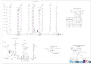 Аксонометрическая схема внутреннего водопровода и канализации, схема водомерного узла, повысительной насосной установки