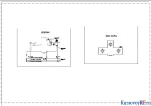 Чертеж  водопровода и канализации  (формат 2хА1)