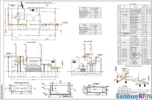 Чертеж плана площадки ГРПН-300-6-1,2 №1 наружных сетей газоснабжения