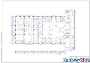 Чертеж схема здания