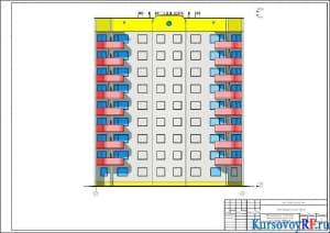 Фасад 1-9 М 1:100