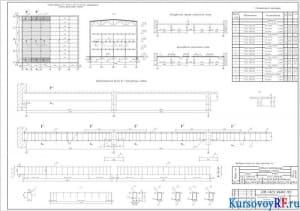 Схема балочной клетки монолитного перекрытия, схема раскладки сеток, разрез 1-1, опалубочный чертеж второстепенной балки Б-1, схема армирования балки Б-1, спецификация арматуры, выбовка стали на 1 элемент