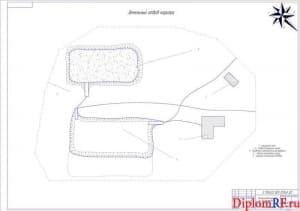Чертёж земельного отвода карьера (формат А1)