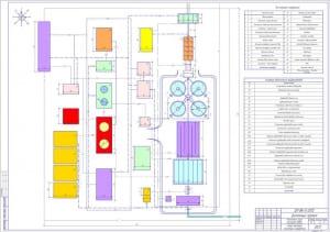 2.Схема генплана очистных сооружений А1