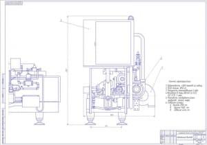 Чертеж общего вида разливно-упаковочного автомата марки ЕLОРАК QММ – 4500 2хА1