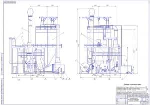 2.Чертеж общего вида дисковой распылительной сушильной установки А1