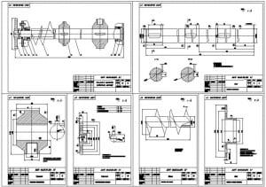 2.Деталировка (механизм привода рабочего органа, вал, держатель, звездочка, винт, вал) А1