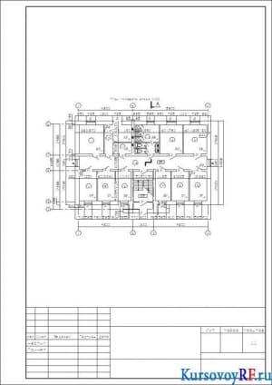 План типового этажа М:100 (2)