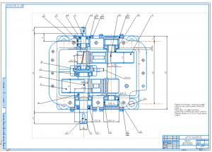 2.Сборочный чертеж редуктора цилиндрического двухступенчатого А1