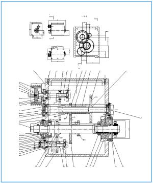 2.Сборочный чертеж узла главного движения станка