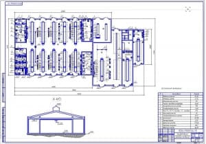 Планировка ремонтной мастерской (ф.А1)