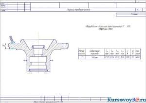 Схема ступицы переднего колеса (формат А 3х4 )