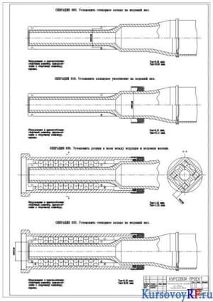 Технологические наладки на сборку карданного вала (формат А1)