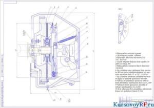 Чертеж сцепления автомобиля ЗИЛ-130 (формат А1)