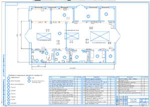 3.Чертеж плана центральной ремонтной мастерской (ЦРМ) хозяйства А1 с расстановкой оборудования