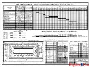 Схема календарный план строительства свинарника (формат А1)