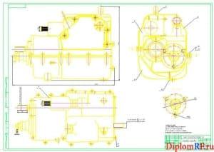 Чертеж коробки передач (формат А1)