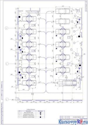 Участок детальной разработки - зона ТО и ТР