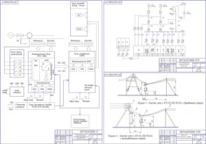 3.Устройство релейной защиты линии 10 кВ на базе микропроцессорного терминала типа SPAC 801.01; Участок сети с КТП 25-250/10/0,4 и опорами Схема электрическая расположения; Схема собственных нужд  подстанции 110/10 кВ Красная Горка – общий формат А1
