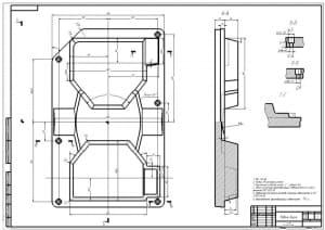 3.Рабочий чертеж модели верха А1