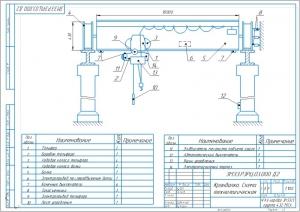 3.Схема технологическая, кранбалка А3