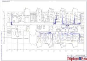 Схема подключения оборудования ремонтно-механического цеха (формат А1)