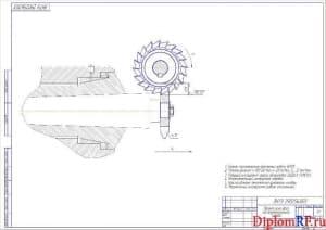 Чертеж наладки на фрезерование стружечных канавок дисковой модульной фрезы (формат А2)