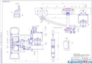 Чертеж подвески передней сборочный (формат А1)