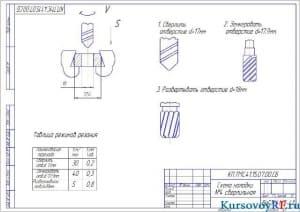 Чертеж схема наладки сверлильная (формат А 3 )