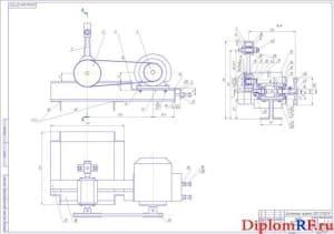 Сборочный чертеж эксцентрикового привода (формат А1)