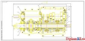 Чертеж коробки в разрезе (формат 2хА1)