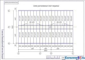 Схема расположения плит покрытий (формат А3)