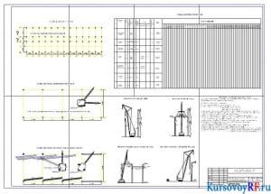 Схемы монтажа конструкций и движения кранов, календарный план