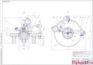 Чертеж приспособления для контроля радиального и торцевого биений зубьев дисковых модульных фрез (формат А1)