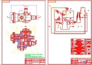 Чертеж гидрораспределителя и его гидросхемы (формат А1)