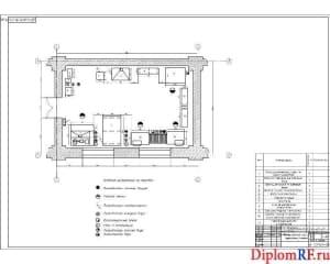 Чертёж планировочный медницкого участка (формат А1)
