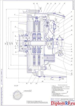 Чертёж сборочный механизма сцепления (формат А1)