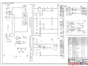 Схема релейной защиты трансформатора (формат А1)