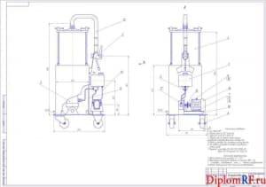 Чертеж устройства для смазки рессор (формат А1)
