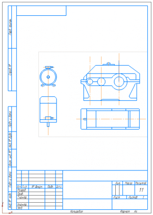 4.Эскизные чертежи электродвигателя и редуктора А4
