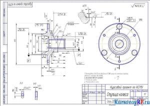 Деталь Ступица колеса (формат А3)