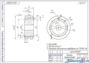 Деталь Поршень амортизатора (формат А3)